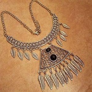 Boho tribal style necklace